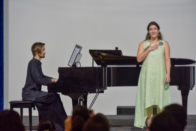 Performing at the Art Song Festival 2020 with Adam Greig, Chennai