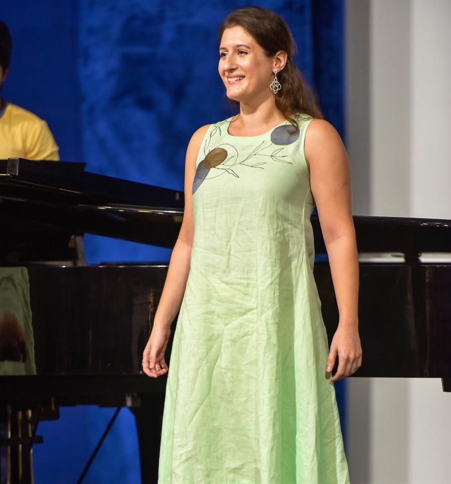 Nina performing at the Art Song Festival 2020, KMMC