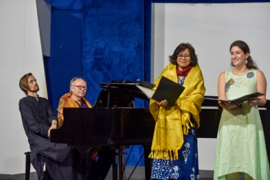 Performing at the Art Song Festival 2020 with Patricia Rozario OBE, Adam Greig and Mark Troop, Chennai